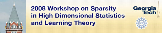 Sparsity in High Dimensional Statistics and Learning Theory Workshop  logo