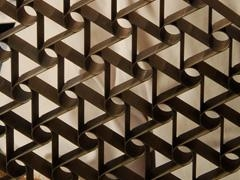 wooden pattern in a zigzag pattern