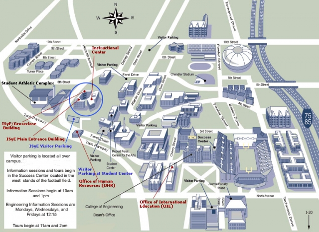 Maps & Directions | ISyE | Georgia Institute of Technology