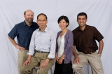 Ying Hung with ISyE professors Paul Kvam, Jeff Wu, and Roshan Vengazhiyil