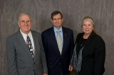 (L to R): Mike Thomas, ISyE interim chair; Ed Rogers, ISyE advisory board chair; and Jane Ammons, ISyE professor and associate dean of engineering.