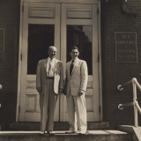 Colonel Frank Groseclose (left) and faculty member Bob Eskew in 1951
