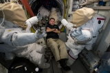 Shane Kimbrough and space suit