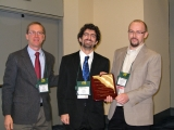 Dadush accepting the 2011 INFORMS Optimization Society Student Paper Prize
