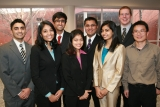 GE Energy Team (left to right) Mohsin Lakhani, Swathi Narayanaswamy, Manan Bhatt, Avadhi Dhruv, Ariz Himani, Saloni Desai, Mark Herman, Dr. Yajun Mei.