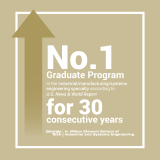 ISyE's graduate program has been ranked No. 1 by USNWR for the 30th consecutive year.