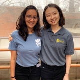 Aarushi Khajuria, ISyE 3rd-year and GTIA executive vice president; Alice Choi, ISyE 4th-year and GTIA president