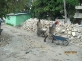 Debris collection in Haiti.