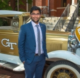 Harshil Goel, recipient of the John L. Imhoff Globalization Scholarship from Alpha Pi Mu