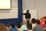 ISyE Lecturer and Advisor Damon P. Williams in the classroom