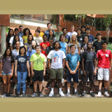 High school students attending the Seth Bonder Camp in Computational and Data Science for Engineering