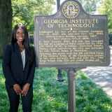 ISyE fourth-year Ndeyanta Jallow is this year's president of the Georgia Tech Society of Black Engineers.