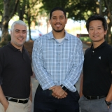 ISyE Professor and Director of the Master of Science in Analytics program Joel Sokol, Chris Anderson, and Kevin Chan
