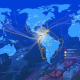 This map shows the many maritime and air routes to and from Panama.