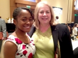 Jane Ammons, ISyE school chair, with scholarship recipient Breona Jenkins.