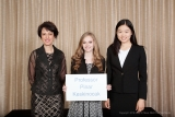 William W. George Chair Pinar Keskinocak, with the two ISyE recipients of her scholarship: Charitty Tuttle and Tina Lu