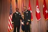 General Ron Johnson (right) and General Kip Ward, AFRICOM Commander, at Johnson's retirement ceremony in March 2008.