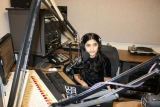 ISyE student Sheen Ganju in one of WREK Radio's studios
