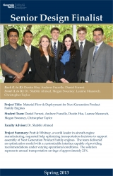 Pratt & Whitney, Spring 2013 Winning Senior Design Team