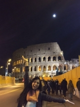 ISyE alum Sangeeta Gadepalli in front of the Coliseum in Rome