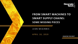 From Smart Machines to Smart Supply Chains: Some Missing Pieces