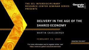 SCL IRC Seminar: Delivery in the Age of the Shared Economy