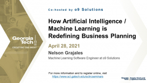 SCL IRC Seminar: How AI/ML is Redefining Business Planning