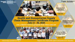 HHSCM Certificate Online Program 2020 Flyer
