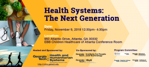 Health Systems: The Next Generation 2018 Flyer