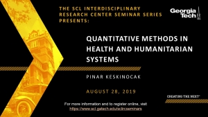 Quantitative Methods in Health and Humanitarian Systems