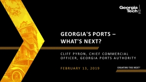 SCLIRC Seminar: Georgia's Ports - What's Next?