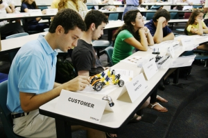ISyE Students participating in Caterpillar Supply Chain Game