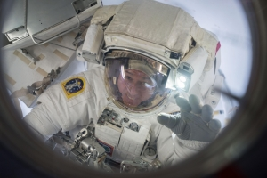 Shane Kimbrough at end of spacewalk