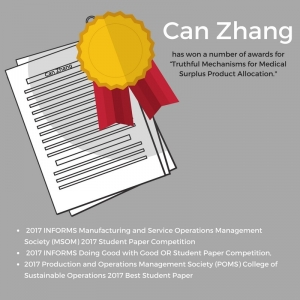 Can Zhang has won numerous awards for his research with MedShare.