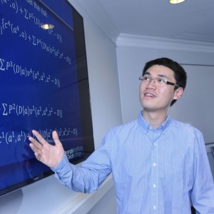 Recent ISyE Ph.D. student Can Zhang. Zhang is now an assistant professor at Duke University's Fuqua School of Business.