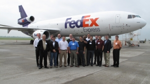 Group photo of the class at Rickenbacker Global Logistics Park