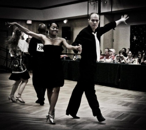 This past spring, Breona and her dance partner, Drew Loney, competed in a dance competition at UNC Charlotte.