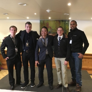 The entire UHAI FutureHack team (l-r): Daniel Zagyva, Aron Pammer, Quang Vu Dang, Patrick Hackett, and Koushik Sampath