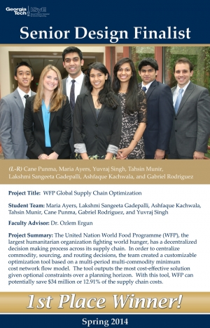 The World Food Program Team Wins 1st Place in Spring 2014 Senior Design Competition