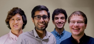 The interdisciplinary team that created FindED: Farhan Khan (CS 2016), Dale Rivera (CS 2016), and Tony Shu (MSE & CS 2017), and Prashant Tailor (IE 2016).