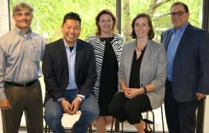 New ISyE Advisory Board Members who will serve a four-year term from 2016-2020 (l-r): Moe Trebuchon, Stan Chia, Jeanene Fowler, Dan Shinedling, Jr., and Annie Walker.