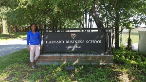 Nagela Nukuna visiting Harvard Business School this summer