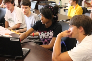 Students worked in teams on a variety of projects that reflected the exciting world of industrial engineering.