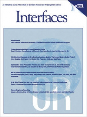 INFORMS Interfaces magazine cover