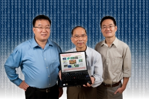(L to R) Jan Shi, Carolyn J. Stewart Chair; Jeff Wu, Coca-Cola Chair in Engineering Statistics; and Ming Yuan, Coca-Cola Junior Professor, research how to successfully use massive data sets to help transform the way we do business.