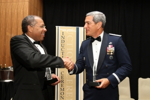 Major General Kelly McKeague, BSIE 1981, MSIE 1987, received The Academy of Distinguished Engineering Alumni Award