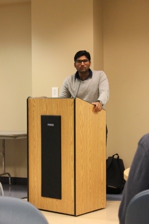 Harshil Goel Leading a Networking Session