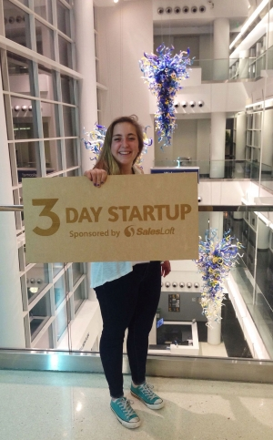 Lois Johnson at Three Day Startup, a business hackathon