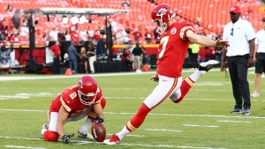 Harrison Butker with the KC Chiefs