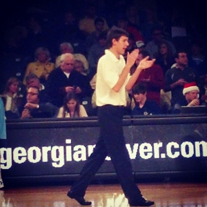 Drew Klaer as assistant men's basketball manager at Georgia Tech